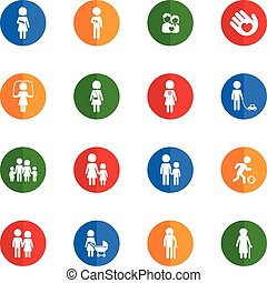 Family simply icons - Family icons set for web sites and...