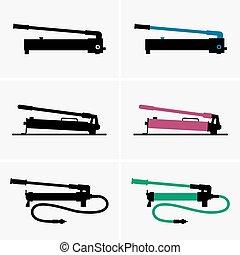 Manual hydraulic pumps - Set of manual hydraulic pumps