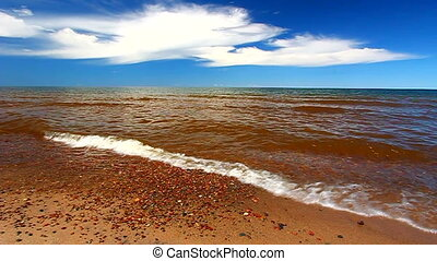 Lake Superior is the largest of the Great Lakes and is seen...