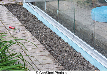 Construction site conservatory - Construction site for a new...