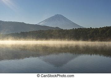 Mount Fuji view from saiko lake Yamanashi, Japan