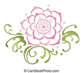 Lotus, waterlily - Lotus flower, beautiful waterlily, floral...