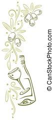Olive branch - Colorful olive branch, kitchen design...