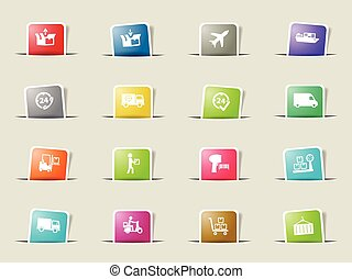 Delivery simply icons - Delivery icons set for web sites and...