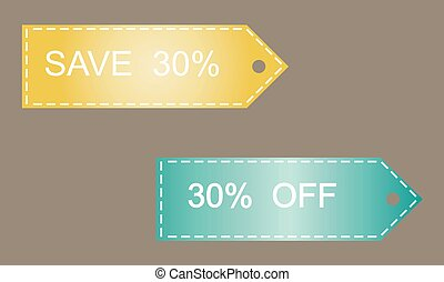 30  off vector sticker
