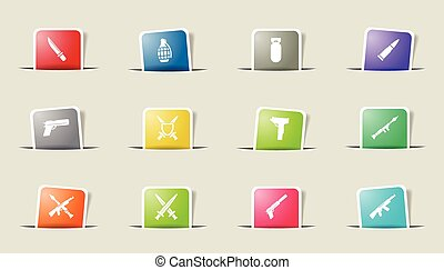 Weapon simply icons - Weapon vector icons for web sites and...