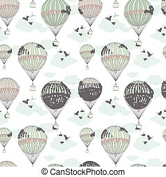 Background with hot air balloons 10 eps