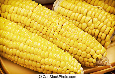 Corn on the cob, detail food photo - Corn on the cob Detail...