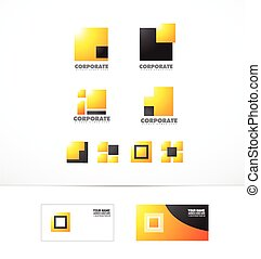 Corporate logo square