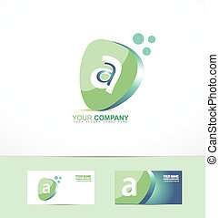 Small letter a logo - Vector company logo icon element...