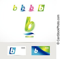 Small letter b icon logo - Vector company logo icon element...