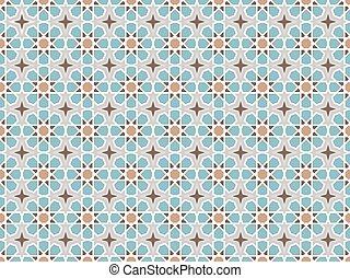 Vector arabic pattern. Wallpaper background with abstract...