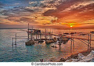 Adriatic sea coast in Chieti, Abruzzo, Italy - Adriatic sea...