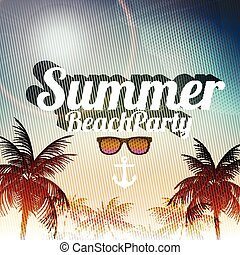Retro Summer Beach Party Vector