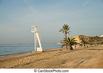La Vila beach - One of the pebbled beaches of La Vila, Costa...