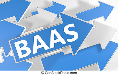 Backup as a Service - BaaS - Backup as a Service 3d render...