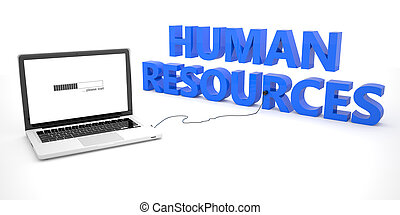 Human Resources - laptop notebook computer connected to a...