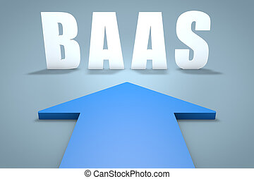 Backup as a Service - BaaS - Backup as a Service - 3d render...