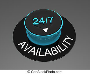 knob with 247 text