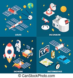 Space Exploration Isometric - Isometric composition abot...