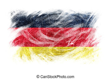 Germany flag blackboard chalk erased isolated - Germany flag...