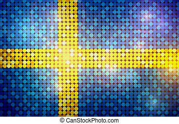 Sparkling Flag of Sweden