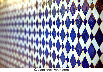 abstract morocco blue pavement background texture - abstract...