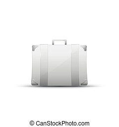 Business briefcase, modern icon - Business briefcase modern...