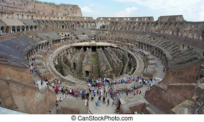 """""""inside of Colosseum, rome, italy, timelapse, zoom in, 4k"""""""