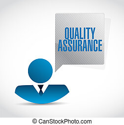 Quality Assurance business people sign concept illustration...