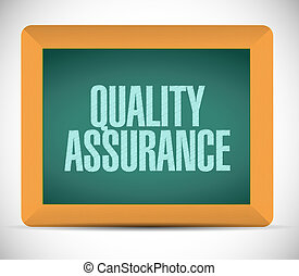 Quality Assurance board sign concept illustration design...