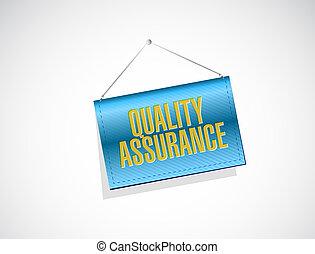 Quality Assurance banner sign concept illustration design...
