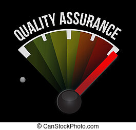 Quality Assurance meter sign concept illustration design...