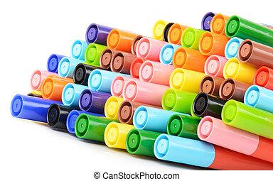 caneta, cores