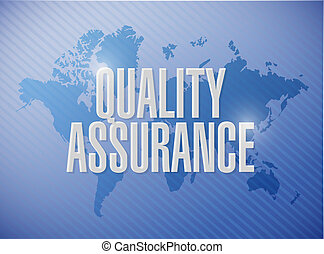 Quality Assurance world map sign concept illustration design...