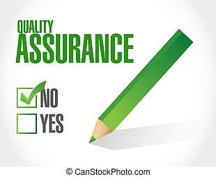 no Quality Assurance approval sign concept illustration...