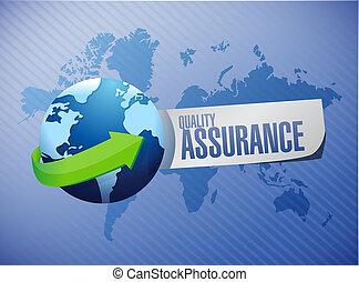 Quality Assurance global sign concept illustration design...