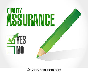 Quality Assurance approval sign concept illustration design...