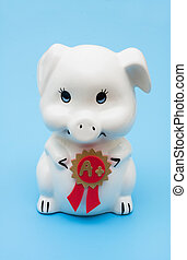 Good grades on your saving plan - A piggy bank with an award...