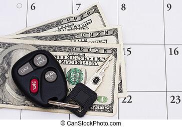 voiture, paiement, dû