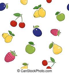 Seamless Pattern of Fresh Fruits - Seamless Pattern of Fresh...
