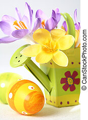 Easter detail with Easter eggs or spring motive