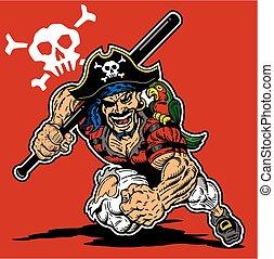 pirate baseball mascot
