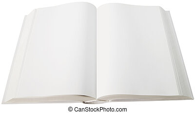 Open book - Open white book isolated with clipping path