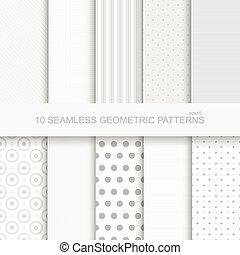 10 Geometric seamless patterns.