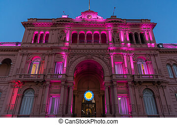 The Casa Rosada The Pink House, official residence of the...