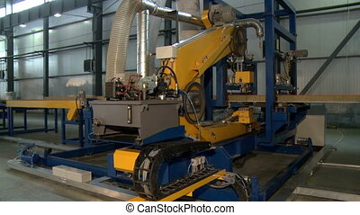 Manufacture of SIP. View on modern machine running in...