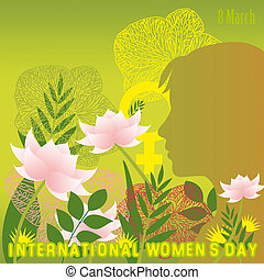 International Women's Day - An abstract illustration on...