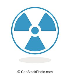 Radioactive Icon - Icon of a radioactive symbol for website...