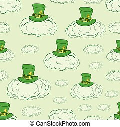 Seamless sky of Saint Patrick - Seamless texture with green...